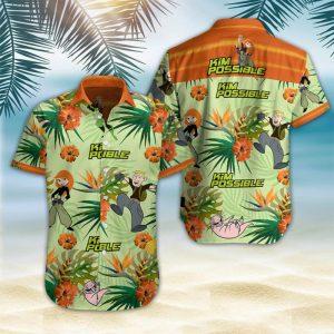 Kim Possible Hawaiian Shirt Summer Button Up