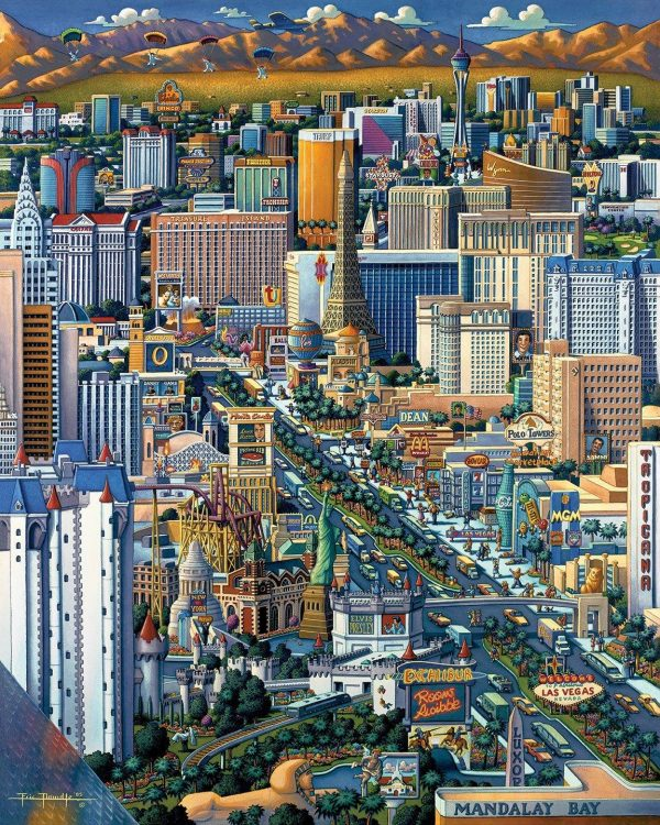 Las Vegas Jigsaw Puzzle Set