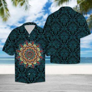 Purple Mandala Hawaiian Shirt Summer Button Up