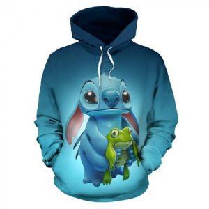 Stitch Art 3D Printed Hoodie/Zipper Hoodie