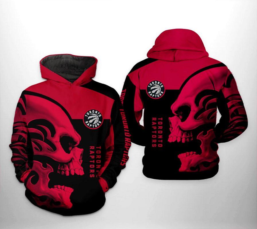 Toronto Raptors NBA Skull Team 3D Printed Hoodie/Zipper Hoodie