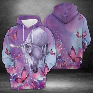 Unicorn Purple 3D Printed Hoodie/Zipper Hoodie