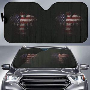 Usa Eagle Flag Car Auto Sun Shade