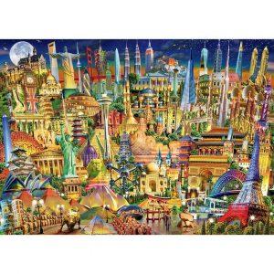 World Landmarks By Night Jigsaw Puzzle Set