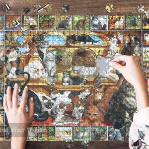 World Of Cats, World Of Cats, World Of Cats Lover Jigsaw Puzzle Set