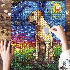Yellow Labrador Jigsaw Puzzle Set