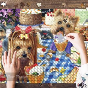 Yorkshire Terrier Jigsaw Puzzle Set