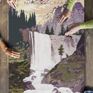 Yosemite National Park, California Vernal Falls Jigsaw Puzzle Set