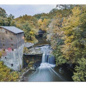 Youngstown Mill In The Fall Jigsaw Puzzle Set