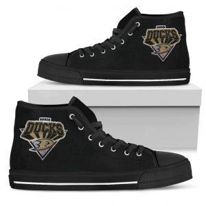3D Simple Logo Anaheim Ducks High Top Shoes