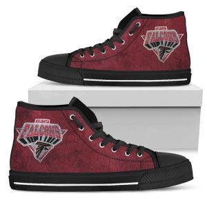 3D Simple Logo Atlanta Falcons High Top Shoes