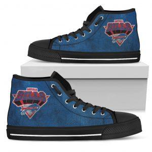 3D Simple Logo Buffalo Bills High Top Shoes