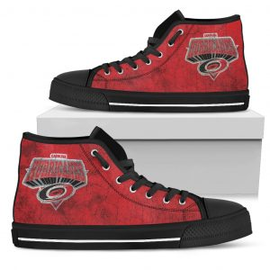 3D Simple Logo Carolina Hurricanes High Top Shoes