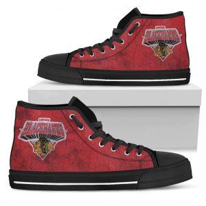 3D Simple Logo Chicago Blackhawks High Top Shoes