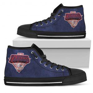 3D Simple Logo New York Yankees High Top Shoes