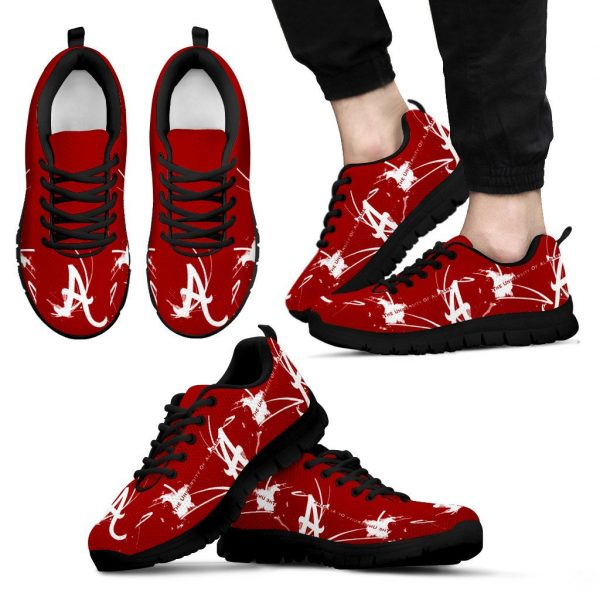 Alabama Crimson Tide A Painting Style Men Sneakers