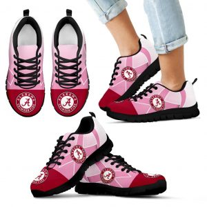 Alabama Crimson Tide Cancer Pink Ribbon Sneakers