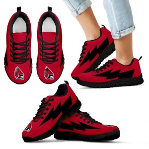 Amazing Ball State Cardinals Sneakers Thunder Lightning Amazing Logo