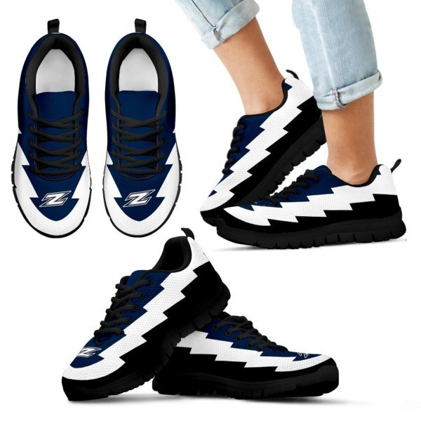 Amazing Printed Akron Zips Sneakers Jagged Saws Creative Draw
