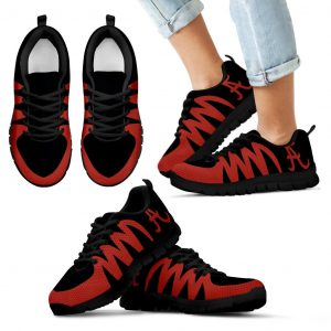 America Alabama Crimson Tide Black Sneakers