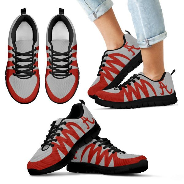 America Alabama Crimson Tide Silver Sneakers