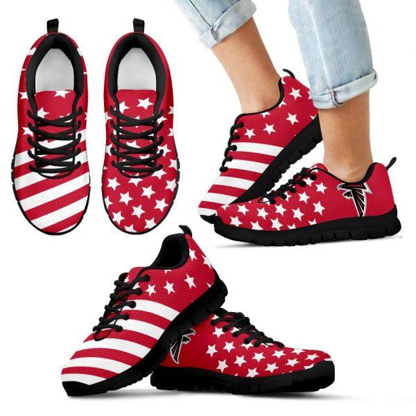 America Flag Full Stars Stripes Atlanta Falcons Sneakers