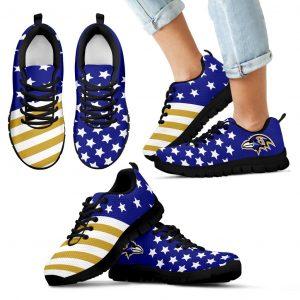 America Flag Full Stars Stripes Baltimore Ravens Sneakers