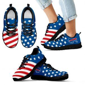 America Flag Full Stars Stripes Buffalo Bills Sneakers