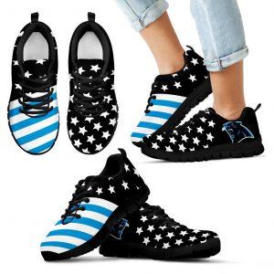 America Flag Full Stars Stripes Carolina Panthers Sneakers