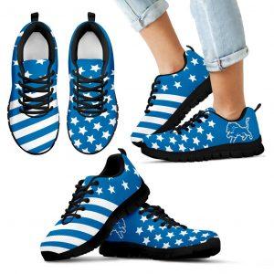 America Flag Full Stars Stripes Detroit Lions Sneakers