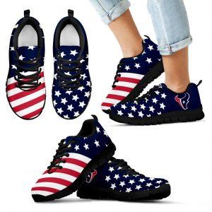 America Flag Full Stars Stripes Houston Texans Sneakers