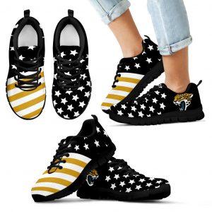 America Flag Full Stars Stripes Jacksonville Jaguars Sneakers