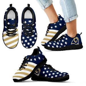 America Flag Full Stars Stripes Los Angeles Rams Sneakers