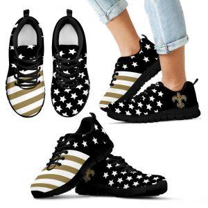 America Flag Full Stars Stripes New Orleans Saints Sneakers
