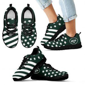 America Flag Full Stars Stripes New York Jets Sneakers