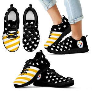 America Flag Full Stars Stripes Pittsburgh Steelers Sneakers