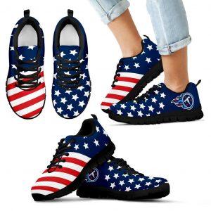 America Flag Full Stars Stripes Tennessee Titans Sneakers