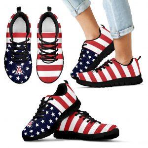 America Flag Logo Bottom Stripes Arizona Wildcats Sneakers
