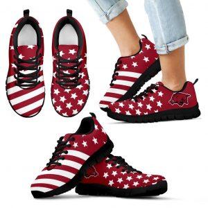 American Flag Full Stars Arkansas Razorbacks Sneakers