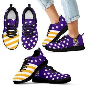 American Flag Full Stars LSU Tigers Sneakers