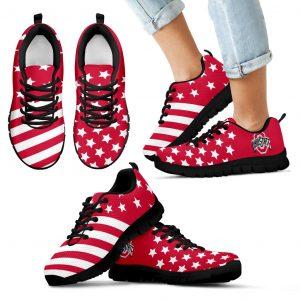 American Flag Full Stars Ohio State Buckeyes Sneakers