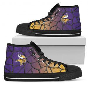 Colors Air Cushion Minnesota Vikings Gradient High Top Shoes