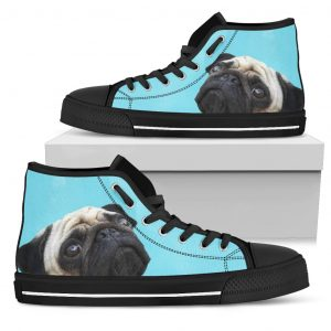 Look At Me Pug High Top Shoes