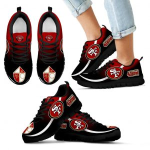 Mystery Straight Line Up San Francisco 49ers Sneakers
