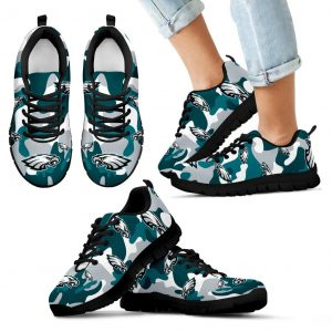 Philadelphia Eagles Cotton Camouflage Fabric Military Solider Style Sneakers
