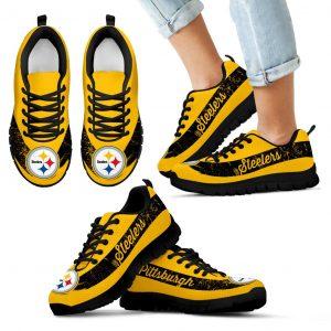 Single Line Logo Pittsburgh Steelers Sneakers