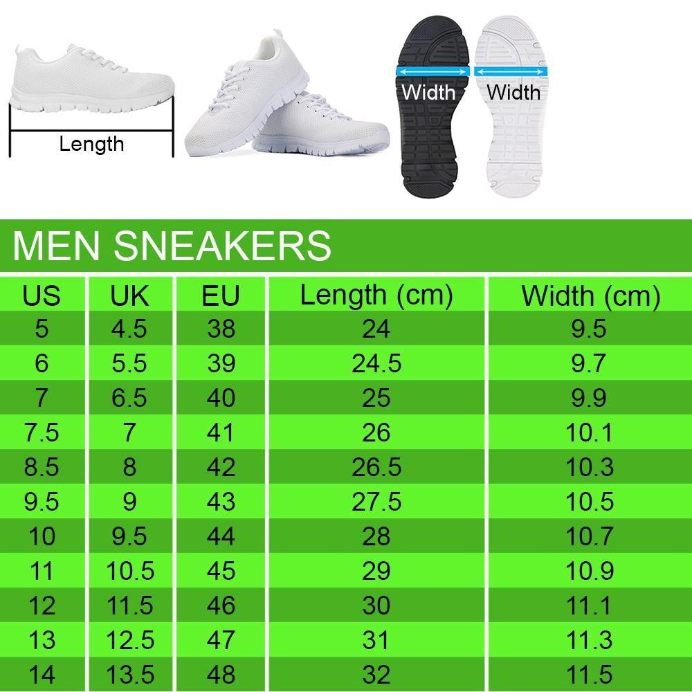 Men Sneakers Sizechart