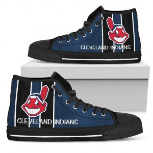 Steaky Trending Fashion Sporty Cleveland Indians High Top Shoes