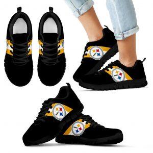 Three Colors Vertical Pittsburgh Steelers Sneakers