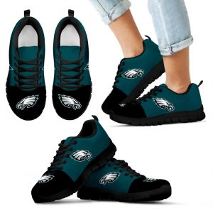 Two Colors Aparted Philadelphia Eagles Sneakers